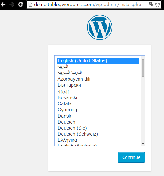 pantalla de configuracion de WordPress